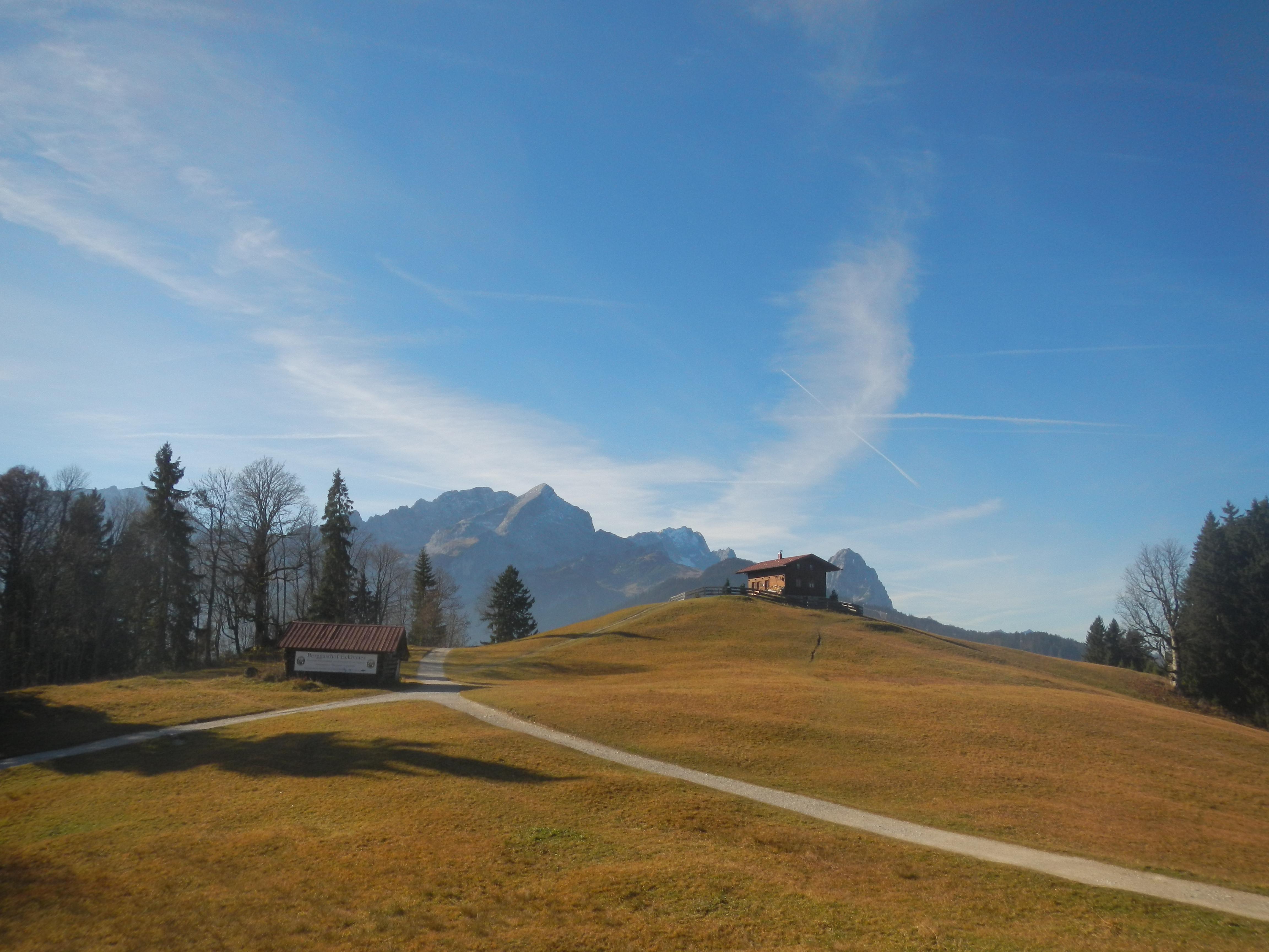 Blick auf die Alpsitze von der Eckbauer Bergstation