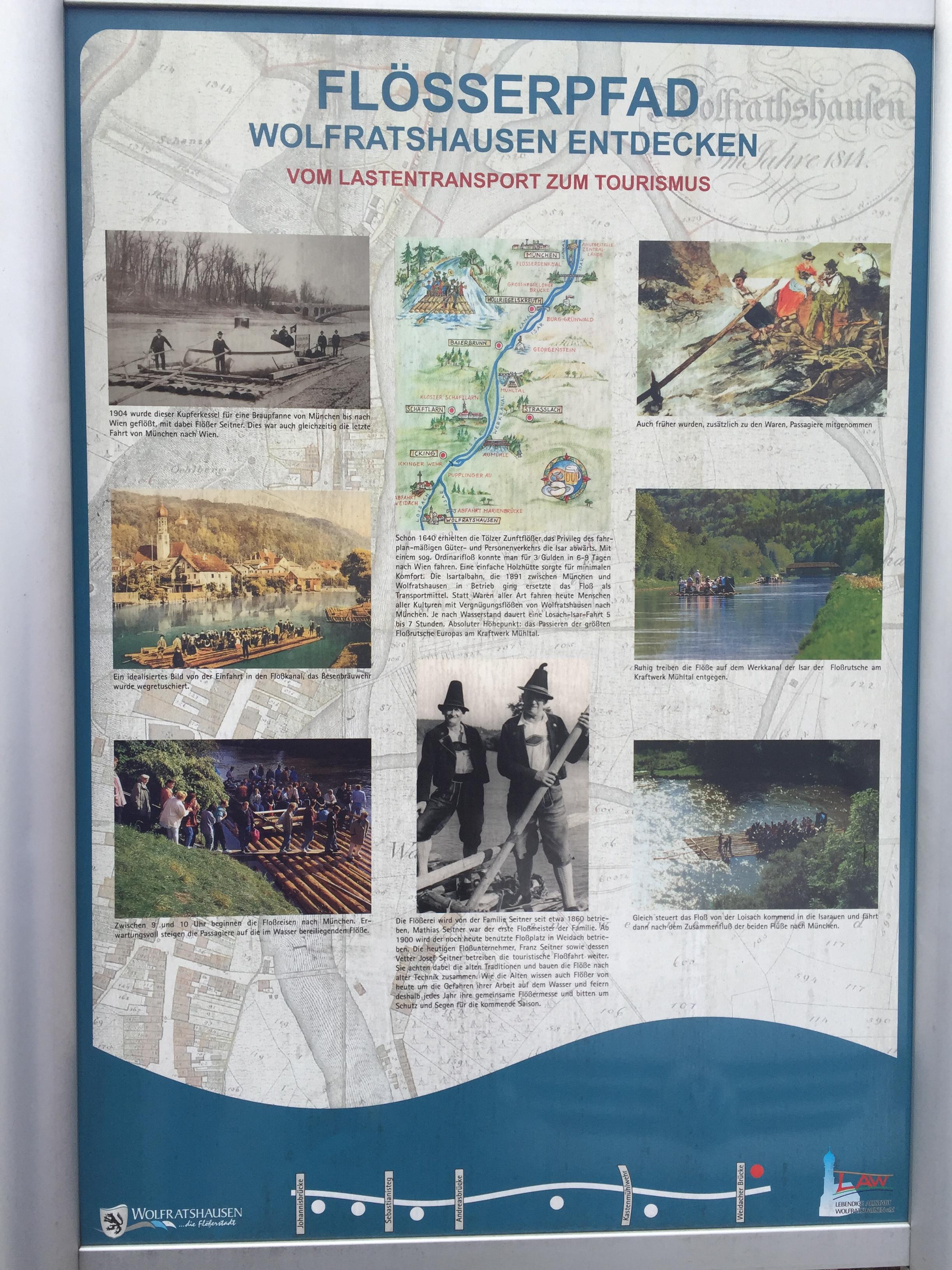 Anschaulich erklärt: die Historie der Flößerstadt Wolfratshausen und das Flößer-Handwerk