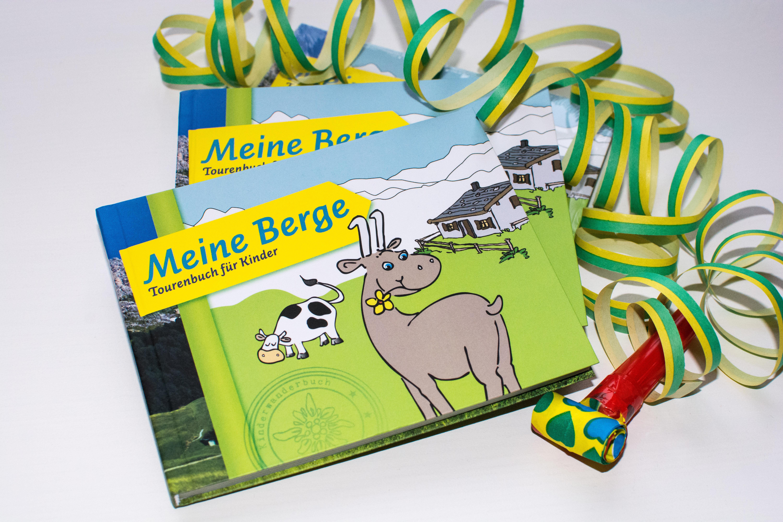 """Wir verlosen 1 Buch """"Meine Berge - Tourenbuch für Kinder"""" vom Zwerg am Berg Verlag."""