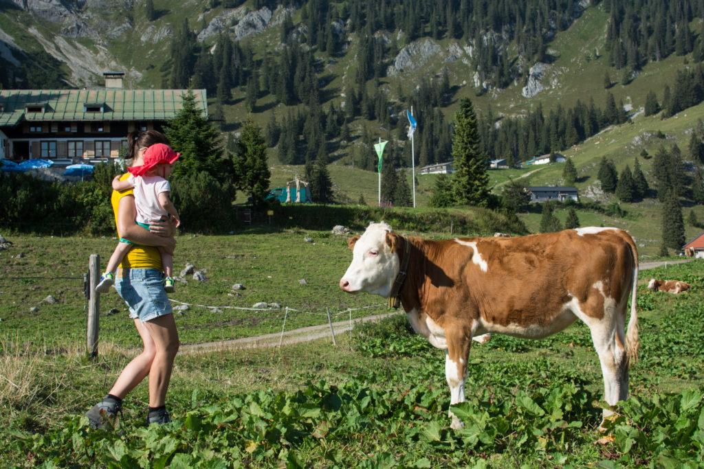 Hüttenübernachtung mit Kleinkind auf der Schönfeldhütte Ende August