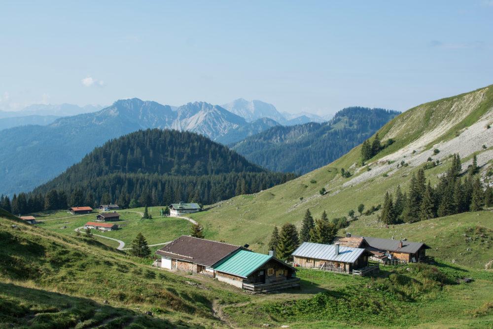 Auf dem Weg zum Jägerkamp - Blick zurück Richtung Schönfeldhütte.