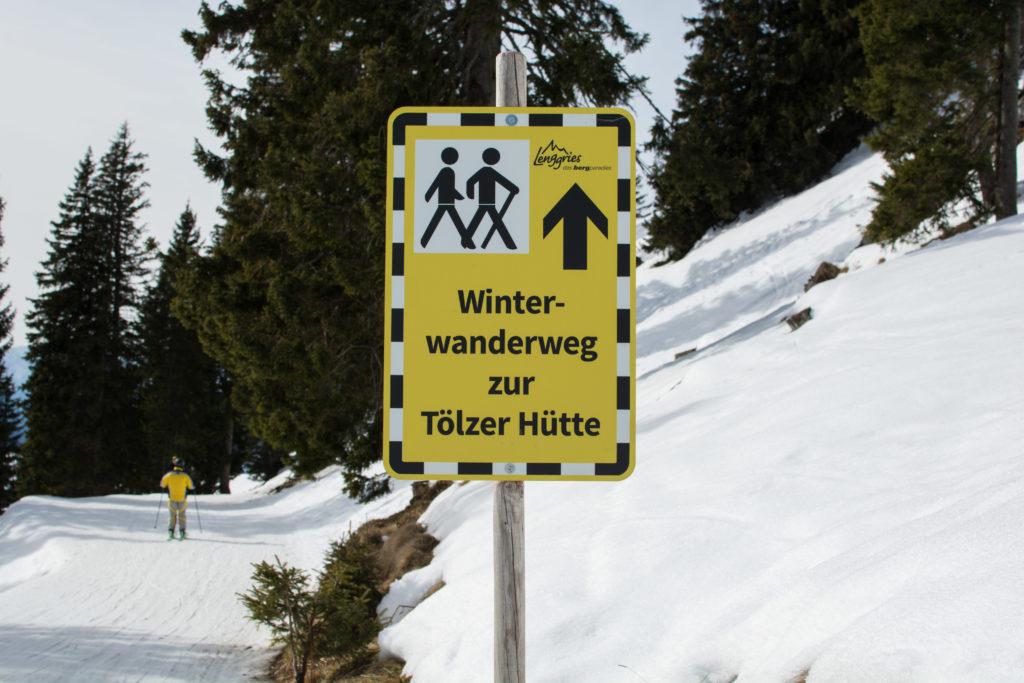 Winterwanderweg Tölzer Hütte