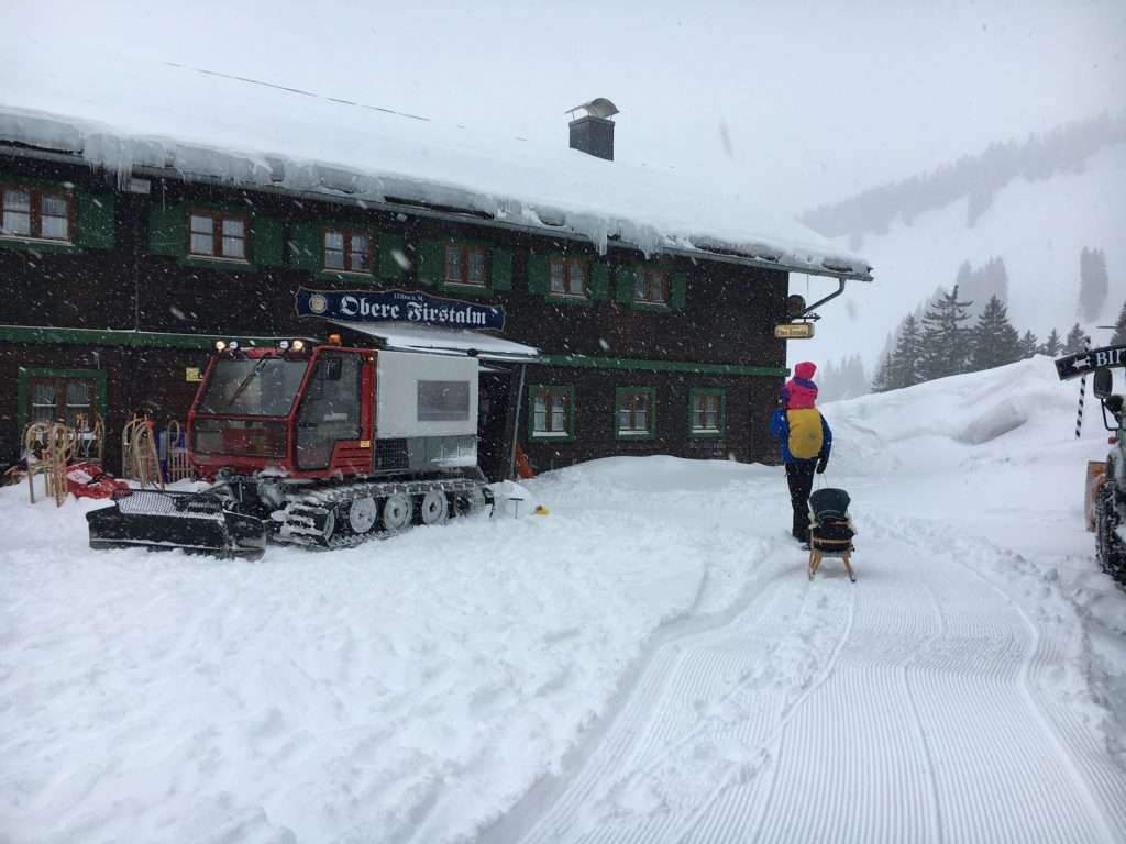 Schneetreiben Obere Firstam am Spitzingsee