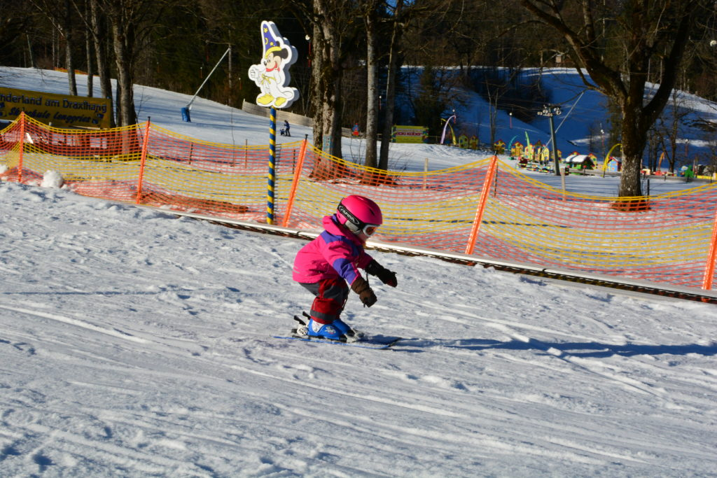 Das erste Mal auf Ski