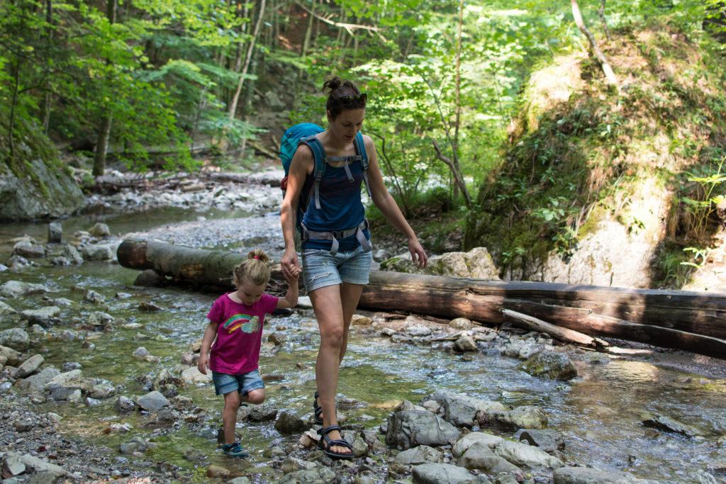 Wanderung Lainbachfälle mit Kind