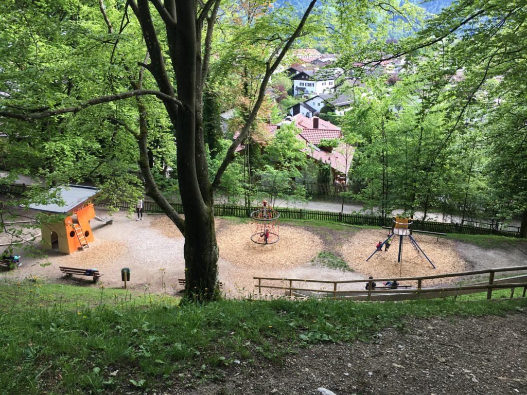 Spielplatz kurz vor Ende der Tour