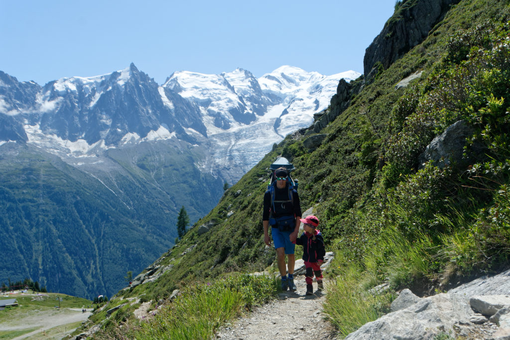 Wandern mit Kindern in Chamonix Mont Blanc