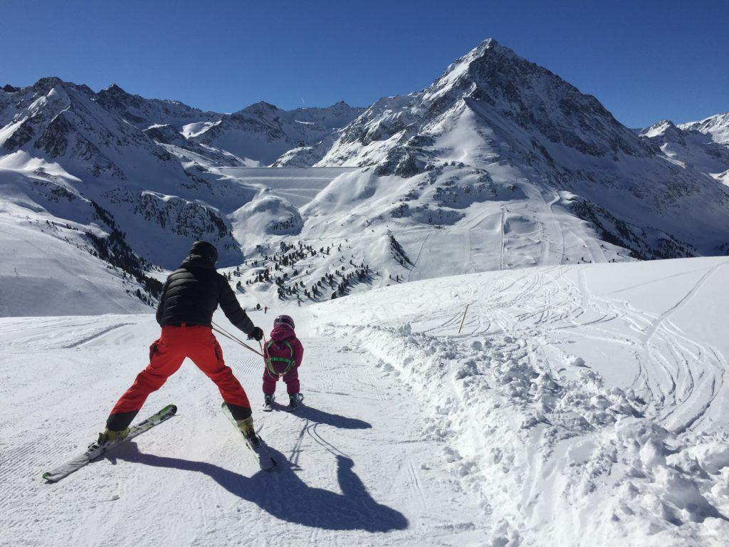 Kühtai Skifahren mit Kindern