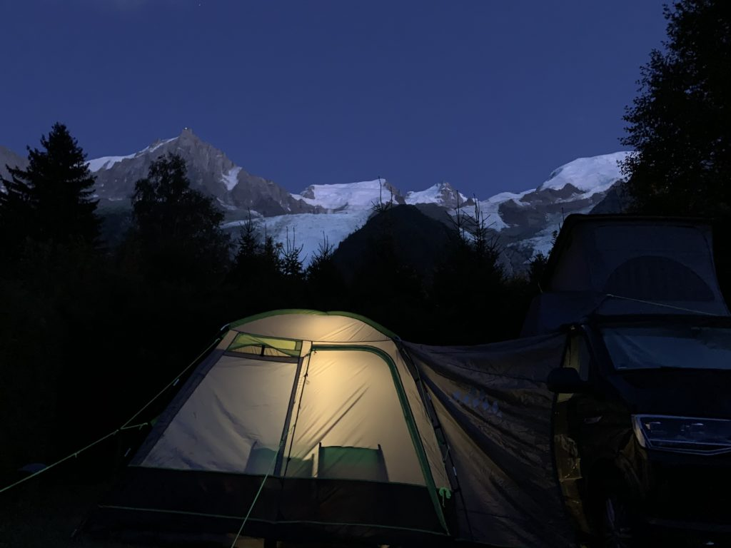 Chamonix Camping Aiguille du Midi