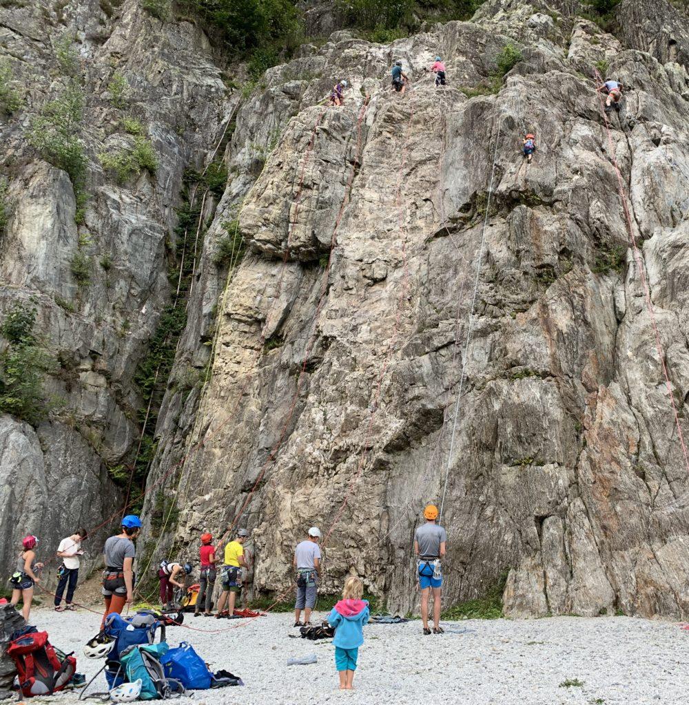 Klettern in Chamonix Les Gaillands