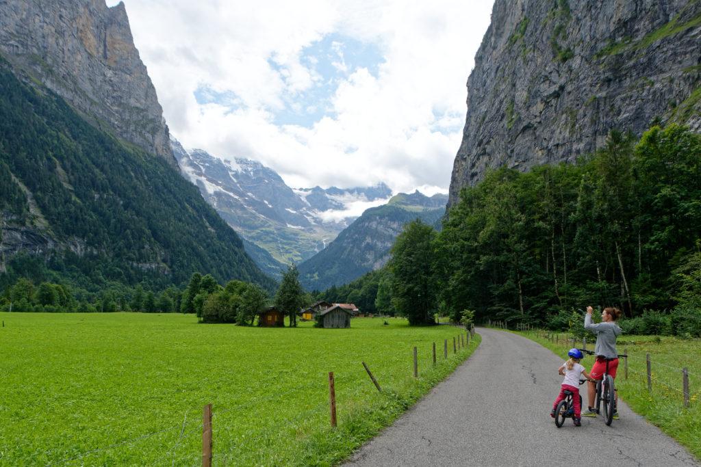 Fahrradtour durch das Lauterbrunnental