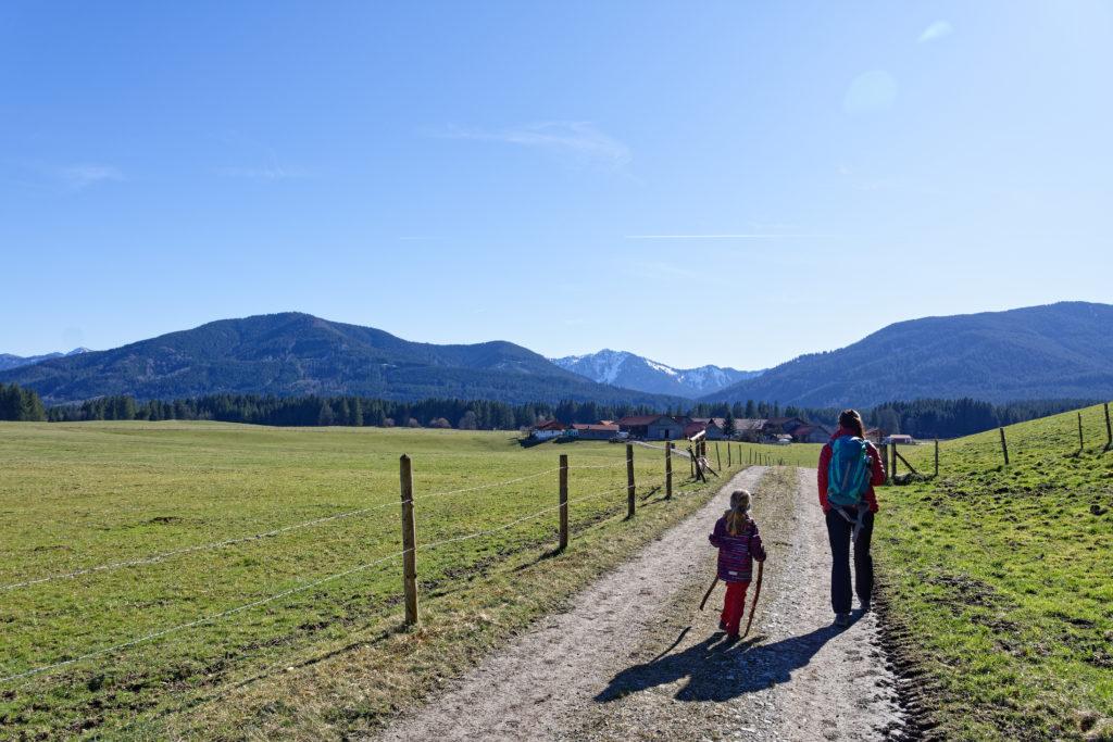 Wandern mit Kindern Bergblick