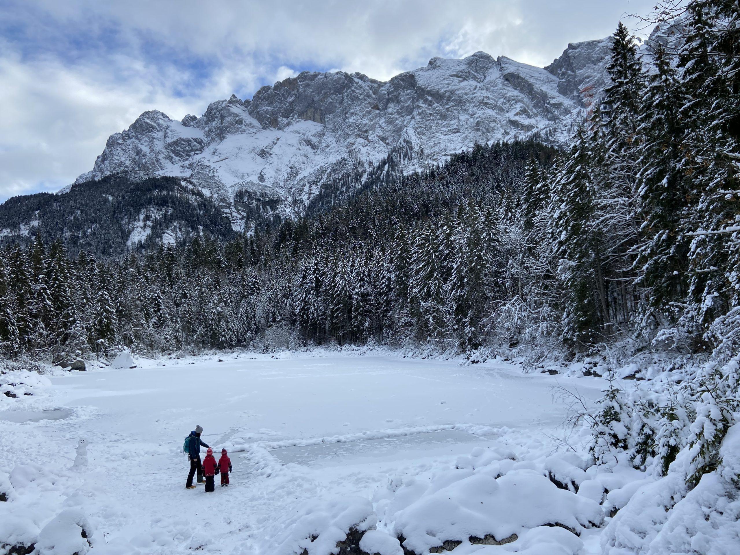 Winterwandern mit Kindern Eibsee