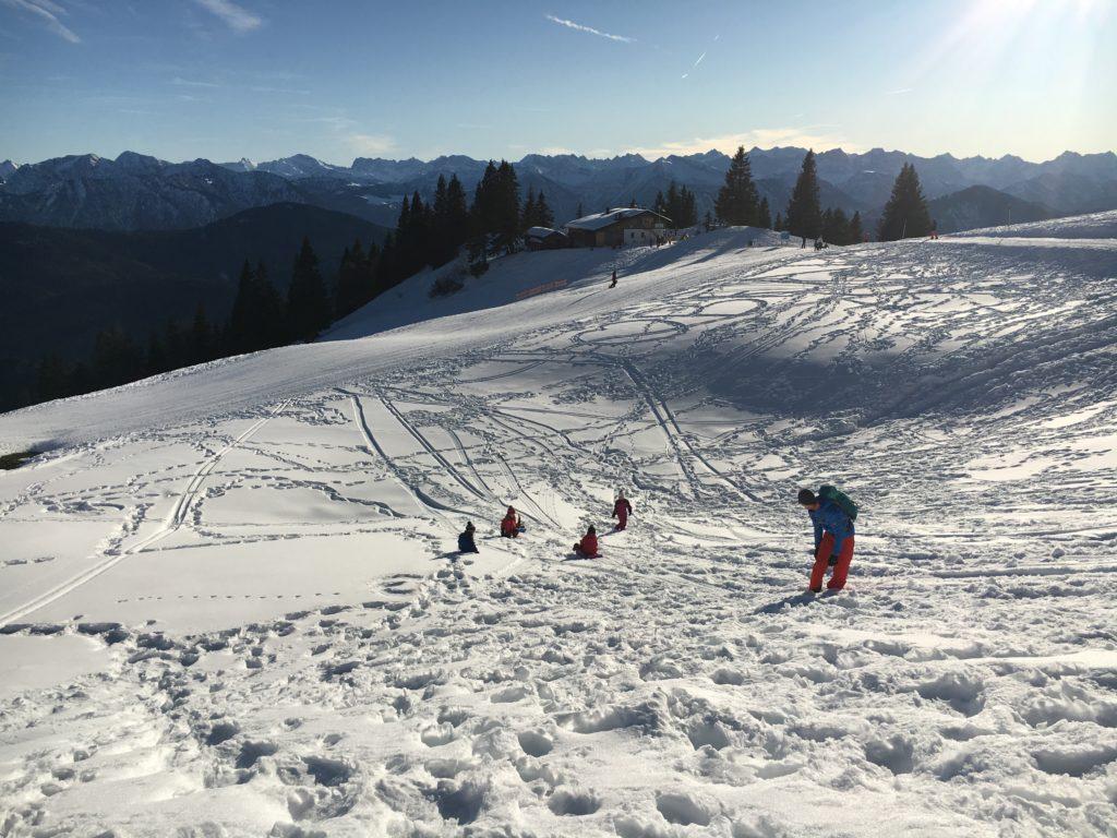 Winterwanderung mit Kindern am Brauneck
