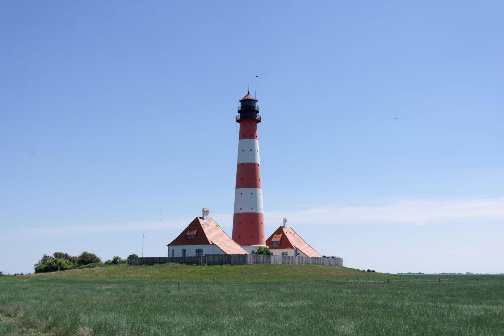 Westerhever Leuchtturm an der Nordsee