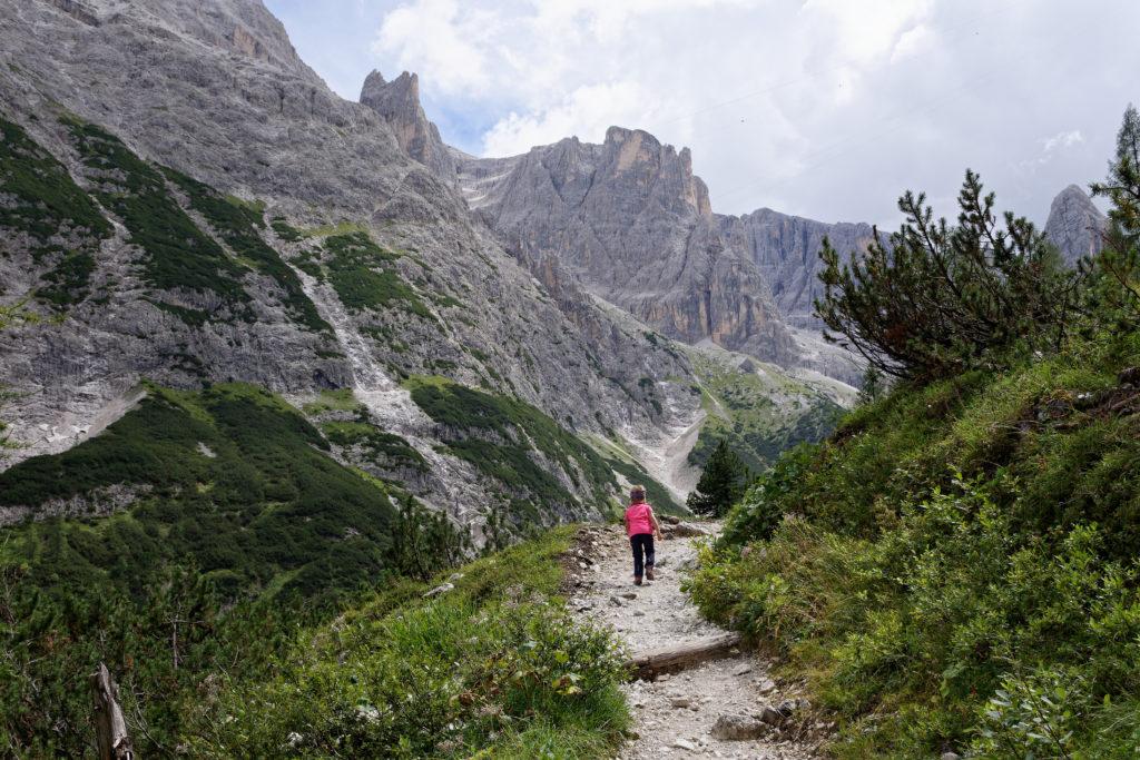 Sextner Dolomiten auf dem Weg zur Zsigmondy Hütte