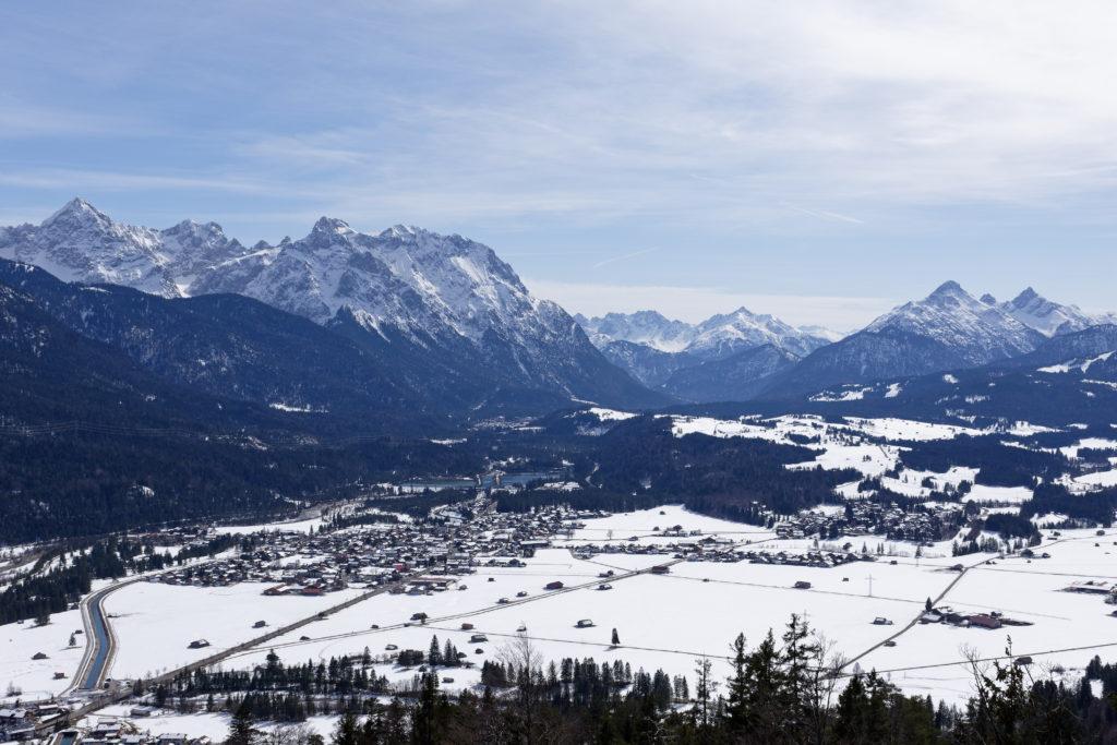 Ausblick vom Krepelschrofen bei Wallgau